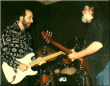 Tom with Lonnie Mack, 1993